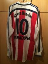 00/01 Abschiedsspiel von Lothar Matthäus Spielertrikot von Diego Armando Maradona hinten