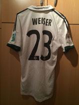 13/14 Klub WM away Spielertrikot von Mitchell Weiser hinten