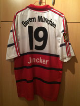 98/99 Bundesliga away Spielertrikot von Carsten Jancker hinten