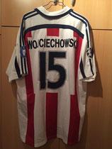 00/01 Champions Leaugue away Spielertrikot von Sławomir Wojciechowski hinten