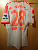 12/13 Bundesliga away Spielertrikot von Holger Badstuber hinten