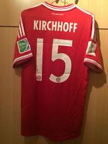 13/14 Klub WM home Spielertrikot von Jan Kirchhoff hinten