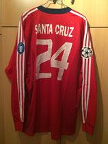 03/04 Champions League Spielertrikot von Roque Santa Cruz hinten