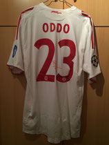 08/09 Champions League Spielertrikot von Massimo Oddo hinten