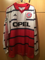 98/99 Champions League away Spielertrikot von Thomas Linke vorne