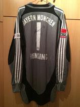 08/09 Bundesliga Spielertrikot von Michael Rensing hinten
