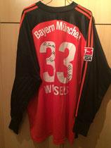 02/03 Bundesliga Torwart Spielertrikot von Stefan Wessels hinten