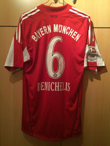 10/11 Bundesliga home Spielertrikot von Martin Demichelis hinten