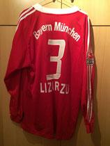 04/05 Bundesliga Derby Spielertrikot von Bixente Lizarazu hinten