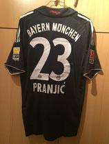 09/10 Bundesliga away Spielertrikot von Daniel Pranjic hinten