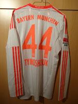12/13 Bundesliga away Spielertrikot von Anatolij Tymoshchuk hinten