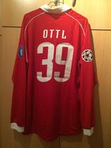 05/06 Champions League home Spielertrikot von Andreas Ottl hinten
