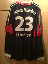 97/98 Bundesliga home Spielertrikot von Frank Gerster hinten