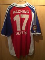 1001/2002 Bundesliga Home Spielertrikot von Jan Seifert hinten