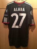 10/11 Champions League Spielertrikot von David Alaba hinten