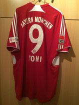 08/09 Bundesliga home Spielertrikot von Luca Toni hinten