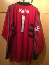 98/99 Champions League Torwart Spielertrikot von Oliver Kahn hinten