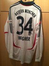 07/08 Bundesliga away Spielertrikot von Sandro Wagner hinten