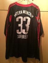 05/06 Bundesliga Derby Spielertrikot von Paolo Guerrero hinten