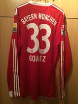 09/10 Bundesliga home Spielertrikot von Mario Gomez hinten