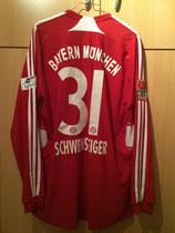 08/09 Deutsche Sporthilfe Bundesliga home Spielertrikot von Bastian Schweinsteiger hinten