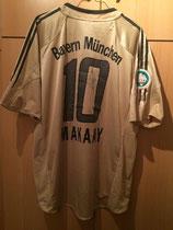 05/06 DFB Pokalfinale Spielertrikot von Roy Makaay hinten