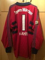 98/99 Bundesliga Torwart Spielertrikot von Oliver Kahn (Zafira) hinten