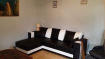Canapé d'angle et fauteuil