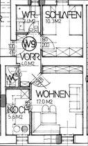 Wohnung 9 - 41,60 m2