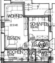 Wohnung 5 - 48,30 m2