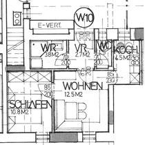 Wohnung 10 - 35,80 m2