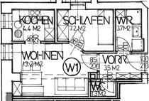 Wohnung 1 - 33,30 m2