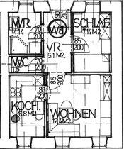Wohnung 8 - 37,08 m2
