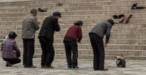 Groupe de chinois venus se recueillir à Labrang