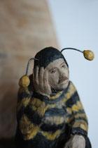 Kiste 30 - Bienenmann, Pappelholz, Farbe, Draht, 2014
