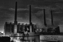 HDR Kraftwerk Schwarz weiss Tonig kunst regen