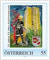 Die Feuerwehr - Briefmarke