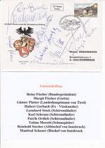 Ersttagsbrief mit den Autogrammen der Prominenz - Autogrammjäger: Othmar Derndorfer