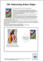 Blatt -Beschreibung + Ersttags Brief + 1 Marke postfrisch