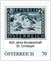 Personalisierte Marke 625 Jahre Bruderschaft St.Christoph