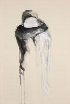 """""""solace""""  120x80cm Graphit und Acryl auf Leinwand  (sold)"""