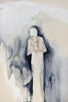"""""""o.T. (newborn)""""  120x80cm Graphit und Acryl auf Leinwand"""