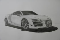 COULD AUDI SAVE US? / Graphite on paper / 50 x 60 / 2012