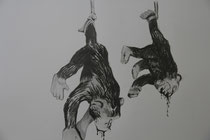 THE INFINITE MONKEY THEOREME / Graphite on paper / 50 x 60 / 2012