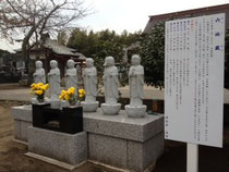 i稲敷市看板 清光寺様 六地蔵 野立て看板、製作、施工 2012年