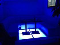 千葉市栄町「ibiza」様 VIPルーム制作(床下LEDアップ)  2012年