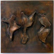 Zeichen II 2002, 40 x 40cm