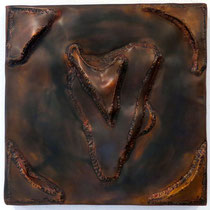 Herz 2003, 40 x 40cm