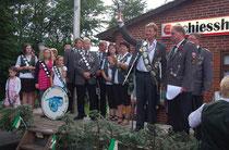 Proklamation der neuen Majestäten 2012-2013 (Foto J. Bauer)