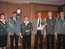 16.Januar 2010 - Verbandsauszeichnung in Silber für den Schützenbruder Wolfgang Lühmann (3. v.r.).